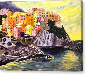 Cinque Terre Sunrise Canvas Print by Diane Arlitt
