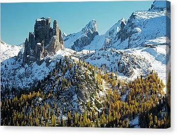 Cinque Torri And Torre Grande Canvas Print