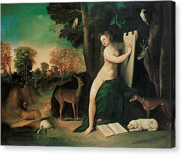Circe And Her Lovers In A Landscape Canvas Print by Dosso Dossi