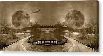 Circle Canvas Print by Betsy Knapp