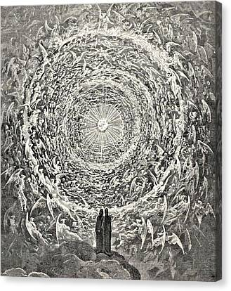 Circle Of Angels Dante's Paradise Illustration Canvas Print by