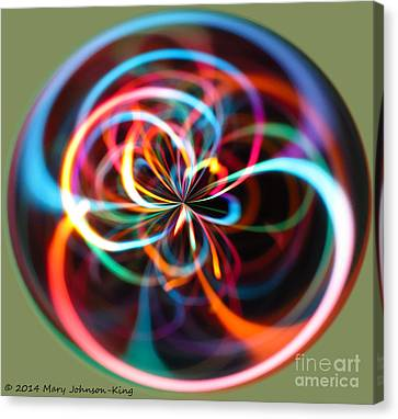 Mary King Canvas Print - Circle Of Color by Mary  King