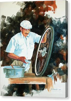Circle Of Life 2 Canvas Print by Kathy Braud