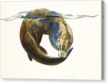Otter Canvas Print - Circle Of Life by Mark Adlington