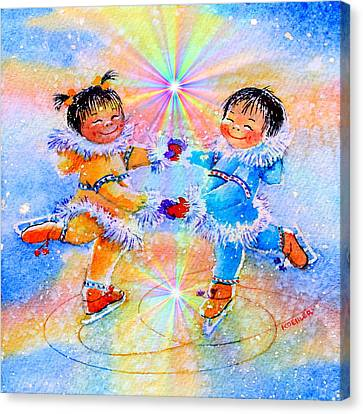 Circle Of Love Canvas Print by Hanne Lore Koehler