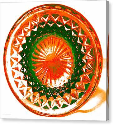 Circle Orange Canvas Print by Anita Lewis