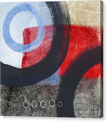 Abstract Art Canvas Print - Circles 1 by Linda Woods