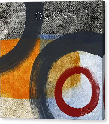 Loft Canvas Print - Circles 3 by Linda Woods