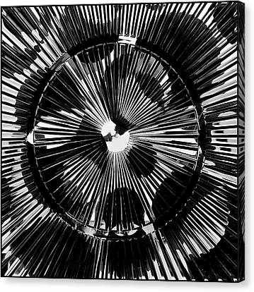 Canvas Print featuring the photograph Circles And Spokes by Geraldine Alexander