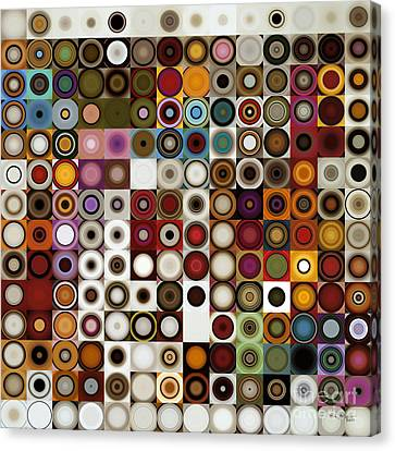 Circles And Squares 3. Modern Home Decor Art Canvas Print by Mark Lawrence