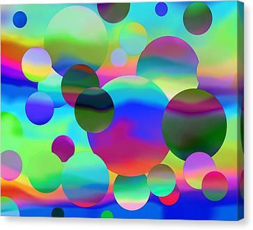 Canvas Print featuring the digital art Circles by Elizabeth Budd