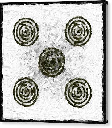 Drips Canvas Print - Circles In Various Patterns by Tommytechno Sweden