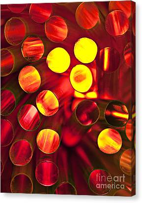 Circles Of Light Canvas Print by Linda D Lester