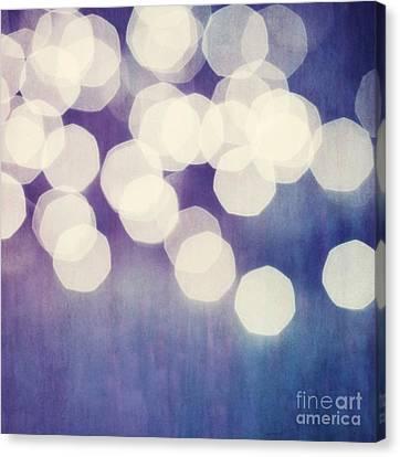 Circles Of Light Canvas Print by Priska Wettstein