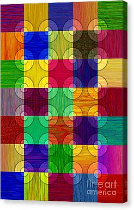 Circles Over Squares Canvas Print