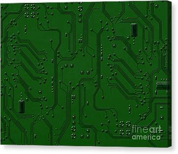 Circuit Board Canvas Print by Bedros Awak