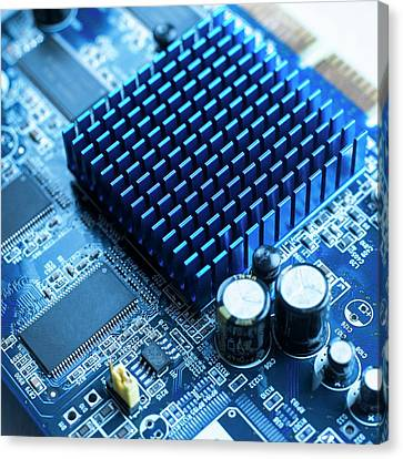 Circuit Board Heat Sink Canvas Print by Science Photo Library