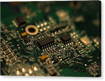Circuit Board Canvas Print by Richard Stephen