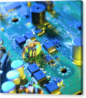 Circuit Board Canvas Print by Science Photo Library