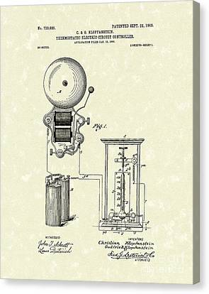 Circuit Control 1903 Patent Art Canvas Print