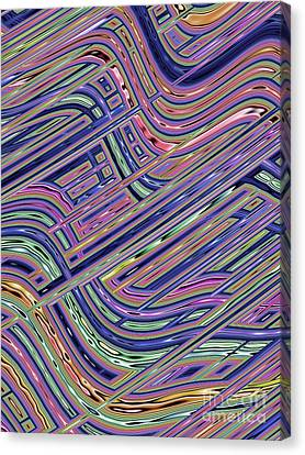 Circuit Canvas Print by John Edwards