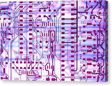Circuit Trace II Canvas Print by Jerry McElroy