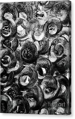 Monotone Canvas Print - Circular Motion Blur Art - Tisha by Simon Bratt Photography LRPS