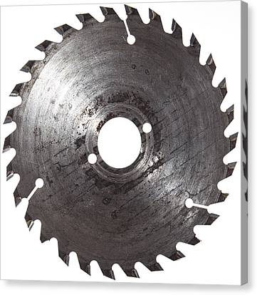 Circular Saw Blade Isolated On White Canvas Print by Handmade Pictures