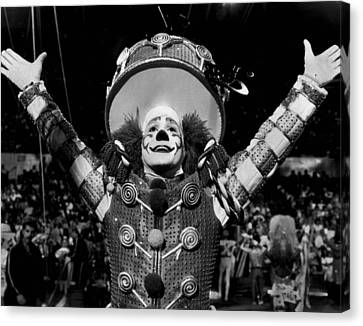 Circus Clown Introduces The Acts Canvas Print by Retro Images Archive