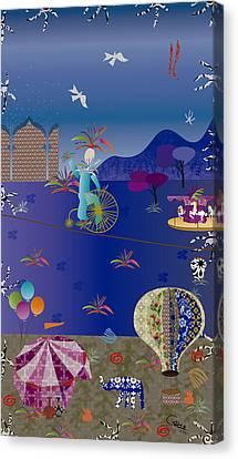 Circus Juggler Canvas Print