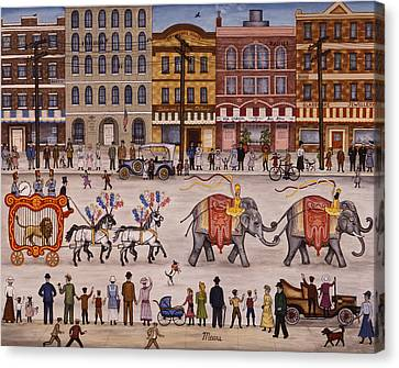 Circus Parade Canvas Print by Linda Mears