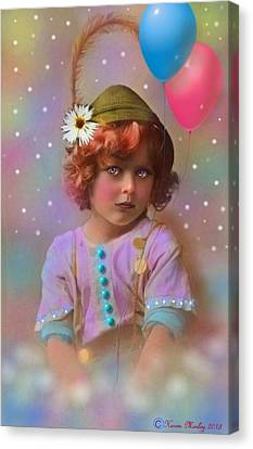 Circus Pixie Canvas Print by Karen Morley