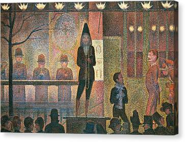 Seurat Canvas Print - Circus Sideshow by Georges Seurat