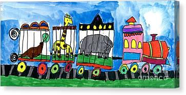 Circus Train Canvas Print by Max Kaderabek Age Eight