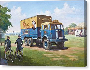Circus Truck Canvas Print by Mike  Jeffries