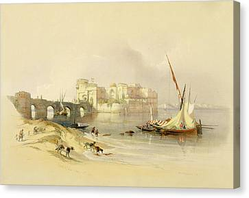 Citadel Of Sidon Canvas Print by David Roberts