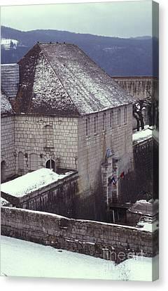 Citadelle Gate Under Snow Canvas Print by Gregory Schultz