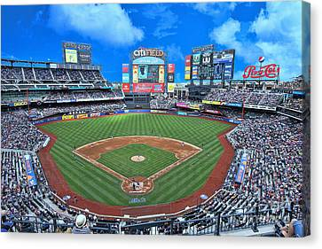 Citi Field Canvas Print by Allen Beatty