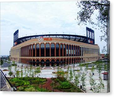 Citi Field Baseball Stadium Canvas Print by Nishanth Gopinathan