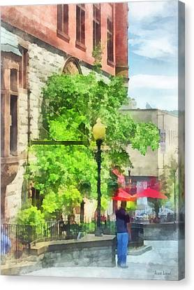 Albany Canvas Print - Cities - North Pearl Street  Albany Ny by Susan Savad
