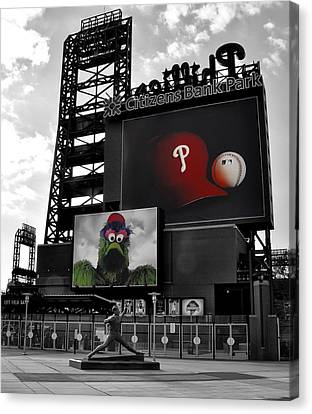 Mike Canvas Print - Citizens Bank Park Philadelphia by Bill Cannon