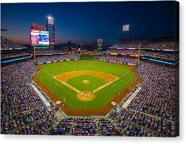 Citizens Bank Park Canvas Print - Citizens Bank Park Philadelphia Phillies by Aaron Couture