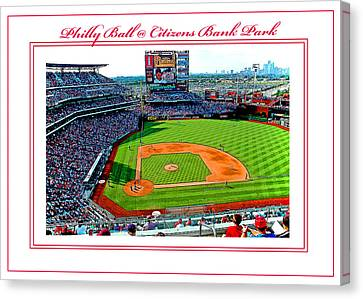 Citizens Bank Park Phillies Baseball Poster Image Canvas Print by A Gurmankin