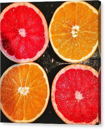 Citrus Foursome Canvas Print by Olivier Calas