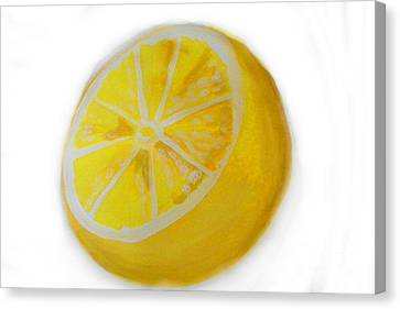 Canvas Print featuring the painting Citrus by Marisela Mungia