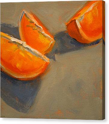 Citrus Meetup Canvas Print by Nancy Merkle