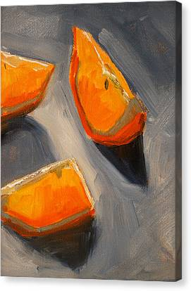 Citrus Mix Up Canvas Print by Nancy Merkle