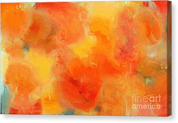 Citrus Passion - Abstract - Digital Painting Canvas Print by Andee Design