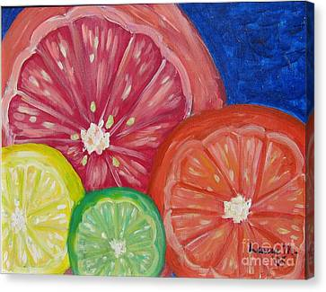 Citrus Slices Canvas Print by Laurie Morgan