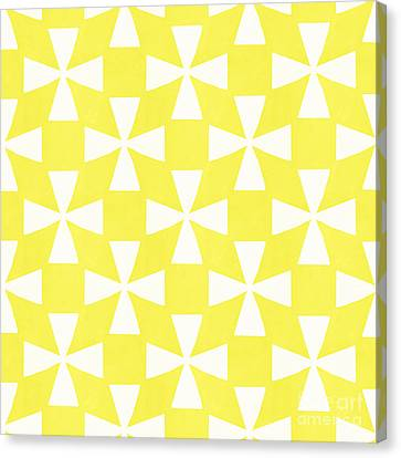 Repeat Canvas Print - Citrus Twirl by Linda Woods